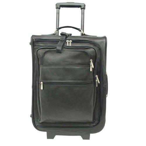 Piel Leather 19-Inch Multi-Pocket Wheeler