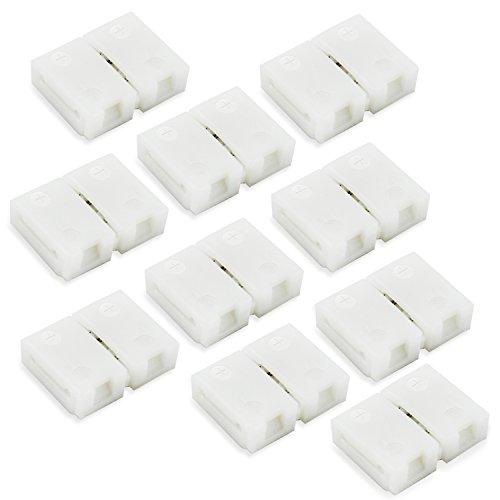 8 millimetri 2 Pin della striscia connettore per SMD 3528 di singolo colore flessibile luce di striscia principale Bisogno saldatura 10pcs