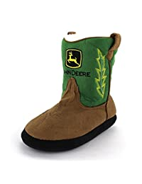 John Deere Boys Green Cowboy Boot Slippers