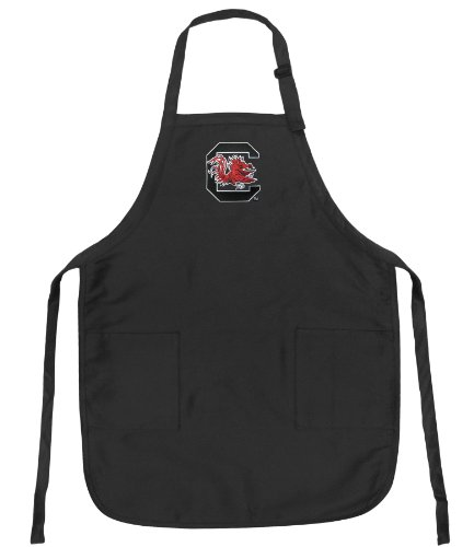 South Carolina Gamecocks Apron Ncaa College Logo Black University Of South Carolina Top Rated For Grilling, Barbecue, Kitchen