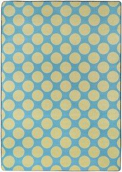 Flirty Blue / Yellow Kids Rug Size: 7'8