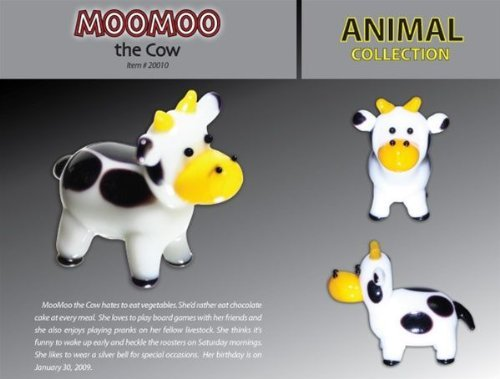 LOOKING GLASS MOO MOO THE COW