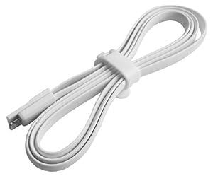 EK-Mobile Premium! 1 Meter Ladekabel Datenkabel, USB Kabel, Aufladekabel für iPhone 5, S, C Ipad Mini, 5, Air, Ipod Touch 5, Ipod Nano 7// flach Magnet gummi 1 Meter Weiß / weiss white