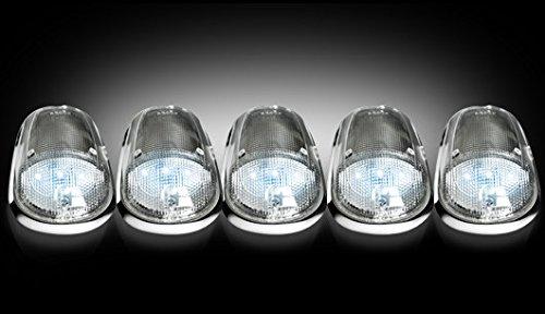 Dodge Ram 03-15 Clear Cab Roof Light Lens W/ Chrome Base W/ White L.E.D'S
