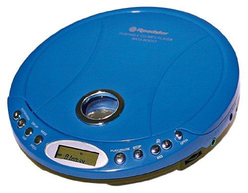 Roadstar PCD-495MP tragbarer CD/MP3 Player inkl. Ohrhörer/Netzteil blau