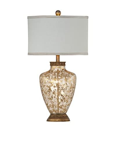 Bassett Mirror Company Marlborough Table Lamp, Gold Leaf Flake Glass
