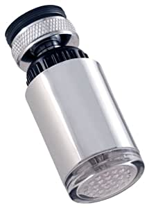 LDR  530 2165TL LED Faucet Aerator Red to Blue Temperature Indicator Light for Hot or Cold, Chrome