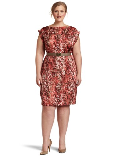 Anne Klein Women's Plus-size Watermark Printed Dress