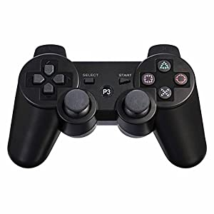 BlueLoong PS3 Controller Wireless Double Shock Black 2 Pack
