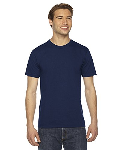 American Apparel -  T-shirt - Uomo Navy Small