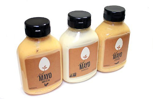 Hampton Creek, Just Mayo, Variety Pack, 3 Flavors (1 Each), 8oz Bottle (Pack of 3)
