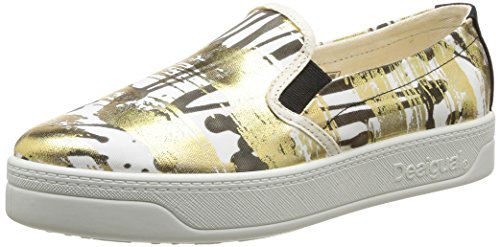 Desigual SHOES TERRENAL, Low-Top Sneaker donna, Oro (Gold (8010)), 41