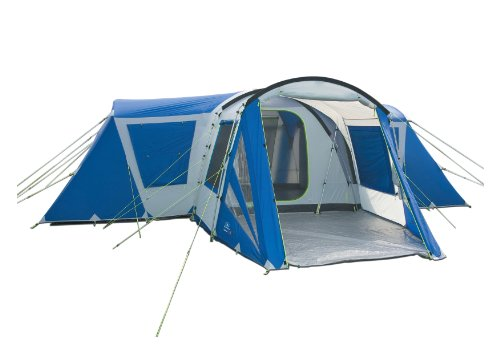 SunnCamp Typhoon 1000 Eight Man Dome Tent - Blue/Grey
