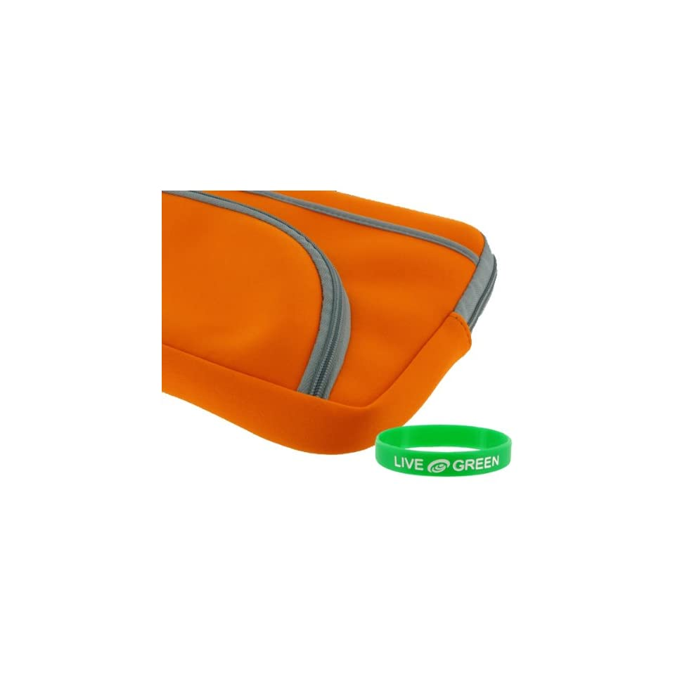 Dell Inspiron Mini IM10 2863 10.1 Inch Netbook Neoprene Sleeve Case   Tri Pocket   Orange