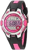 Armitron Womens 457030PNK Pink Dial Black Resin Strap Digital