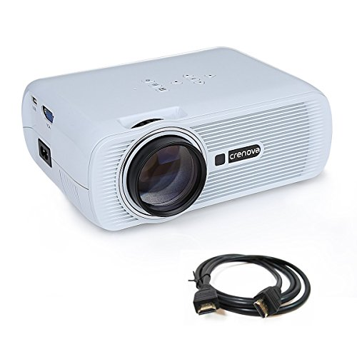 Crenova XPE460 LED Video Projector Home Projector with Free HDMI Support 1080P for Home Cinema Theater TV Laptop Game SD iPad iPhone Android Smartphone-White (Ipad Mini Projector compare prices)