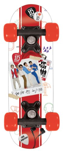 One Direction - Skateboard piccolo in legno, 43 x 13 cm, multicolore