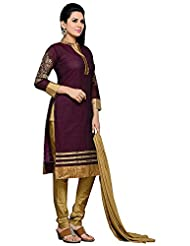 Roopali Creations Women's Chanderi Silk Salwar Suit Set - B013SVMN84