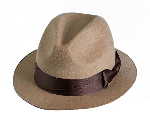 Forum Novelties Men's Novelty Adult Fedora Hat, Tan, One Size