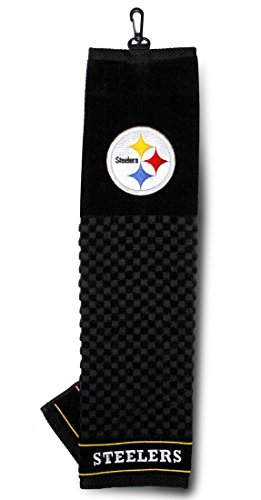 """NFL Officially Licensed 16""""x22"""" Embroidered Golf Towel Pittsburgh Steelers"""