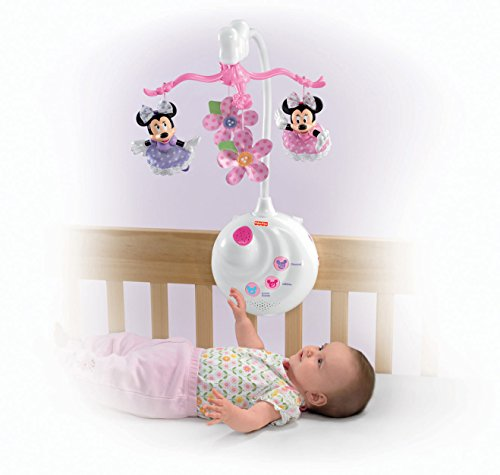 Baby crib projection mobile musical nursery lullaby music box toys disney minnie ebay - Minnie mouse mobel ...