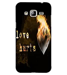 ColourCraft Love Quote Design Back Case Cover for SAMSUNG GALAXY J3