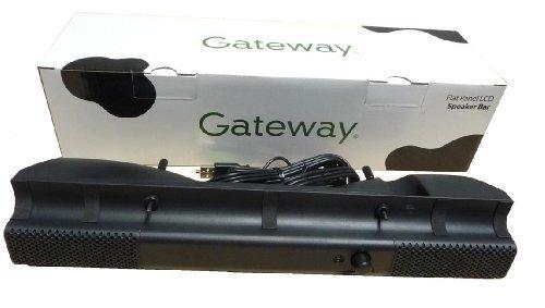 Gateway MultiMedia USB Flat Panel LCD Monitor Speaker Bar System - 2522547