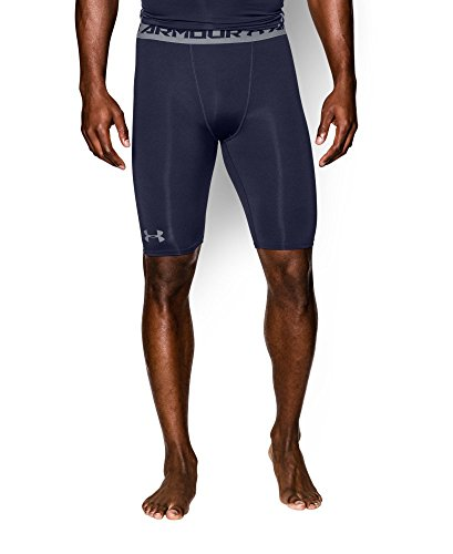 Under Armour Men's HeatGear Armour Compression Shorts - Long, Midnight Navy (410), Small