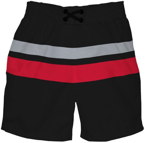 I Play. Baby-Boys Infant Ultimate Swim Diaper Block Boardshorts-Mod , Black, 2-3 Years