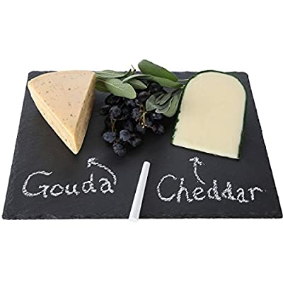 Lily's Home Slate Cheese Board, Cheese Tray, 14 X 10 Inch.