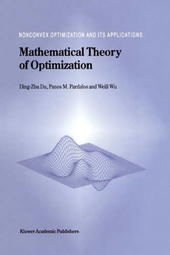 Mathematical Theory of Optimization (Nonconvex Optimization and Its Applications)