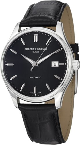 Frederique Constant Classic Automatic Blue Dial Black Leather Mens Watch FC-303B5B6