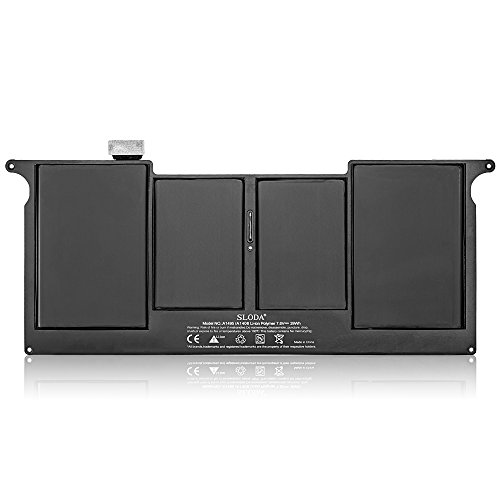 "SLODA Nuova Batteria Del Computer Portatile Per Apple Macbook Air 11 ""A1495 A1406 A1370 (Mid-2011) A1465 (la metà del 2012 alla metà del 2013 Early-2014), [Li-Polymer]"