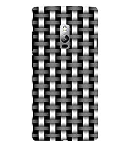 ifasho Modern Art Design animated cloth Pattern of black and white bamboo style Back Case Cover for OnePlus 2