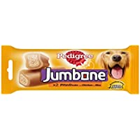 Pedigree Jumbone Adult Dog Treats, Chicken and Rice, 200 g (2 Sticks)