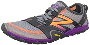 New Balance Women's Minimus WT10 Trail Running Shoe,Silver/Purple,8.5 B US