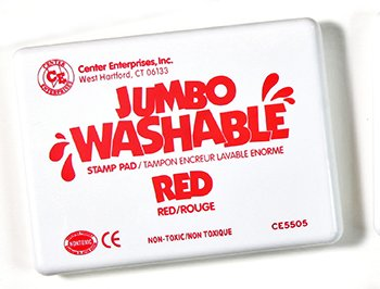 8 Pack CENTER ENTERPRISES INC. JUMBO STAMP PAD RED WASHABLE