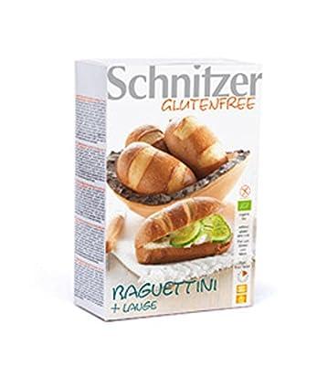 6er-VE Schnitzer Bio Baguettinis Lauge -Glutenfrei- (2x125g) von Brot: Glutenfreie Toast - + Aufbackbrötchen Schnitzer auf Gewürze Shop