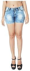 INTEGRITI Women's Denim Shorts (BOLD-LSHOTS-106 EZYFT ICE, Blue, 26)