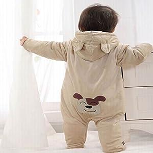 MIKIKIDS Pijama gruesa durable cálido pelele mono disfraz con capucha para bebé niño niña babies romper