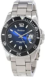 Armitron Men's 204622DBSV Stainless Steel Bracelet and Blue Dial Sport Watch