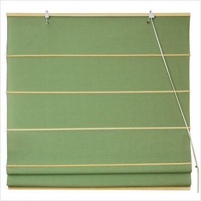 Cotton Roman Shades Blinds in Light Green Width: 48