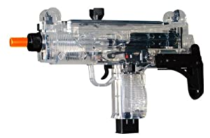 Soft Air Uzi Mini SMG Electric Powered Airsoft Submachine Gun (Clear)