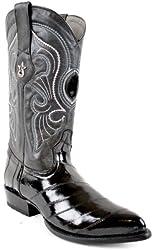 Los Altos Mens Eel Skin J-Toe Boot