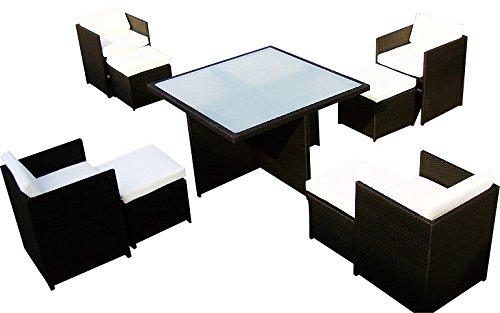 Baidani-Gartenmbel-Sets-10c0003200002-Designer-Sitz-Garnitur-Emotion-1-Tisch-mit-Glasplatte-4-Sthle-4-Hocker-Sitzauflagen-Rckenkissen-braun