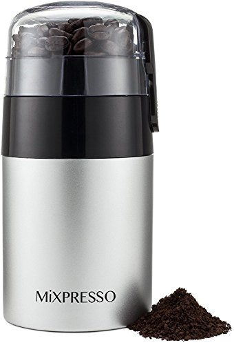 Coffee Grinder - Electric Blade Grinder - by Mixpresso (3 oz, Stainless Steel)