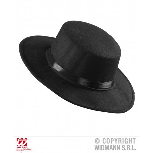 Real Look El Gaucho Hat for Zorro Bandit Wild West Fancy Dress Accessory by WIDMANN (Wild West Fancy Dress)