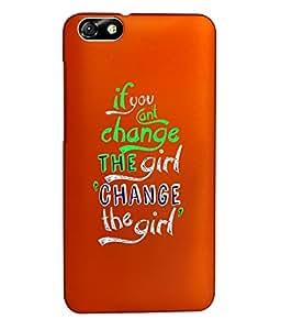 KolorEdge Back Cover For Huawei Honor 4X - Orange (1344-Ke15134Honor4XOrange3D)