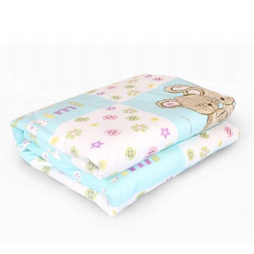 Dele New Special Grade 100% Special Grade Mulberry Silk Baby Quilt / 500G Natural Silk Quilt / Children Quilt (Blue) front-473370
