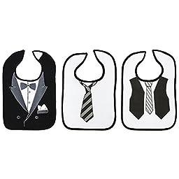 Baby Essentials Tuxedo 3 Pack Bibs